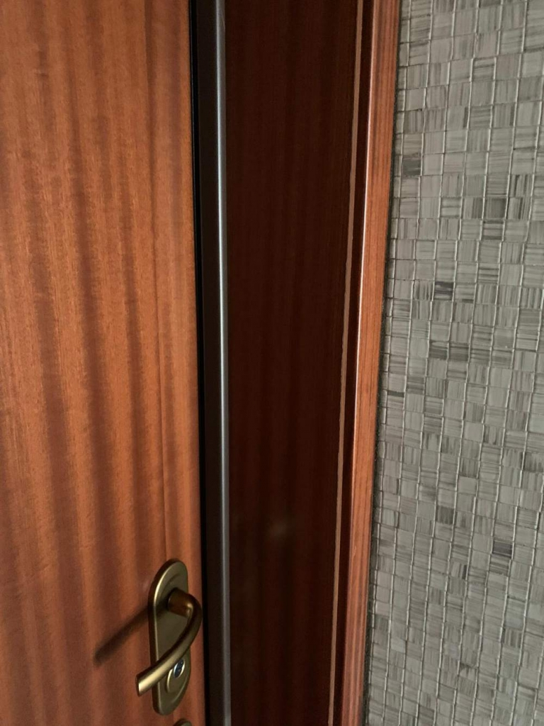 porta blindata mogano